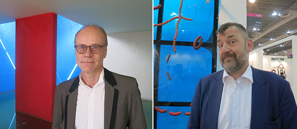 Left: Collector and film producer Frédéric Goldschmidt. Right: Contemporary Art Museum Houston director Bill Arning.
