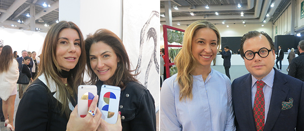 Left: Collectors Gabriela Garza and Allison Kanders. Right: Art advisors Meredith Darrow and Benjamin Godsill.