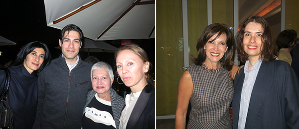 Left: Independent curator Abaseh Mirvali, collector Agustin Coppel II, Coppel Collection director Mireya Escalante and Coppel Collection deputy director Magnolia de la Garza. Right: Patrons of Contemporary Art (PAC) president Aimee Labarrere de Servtje and PAC director Mariana Mungia.