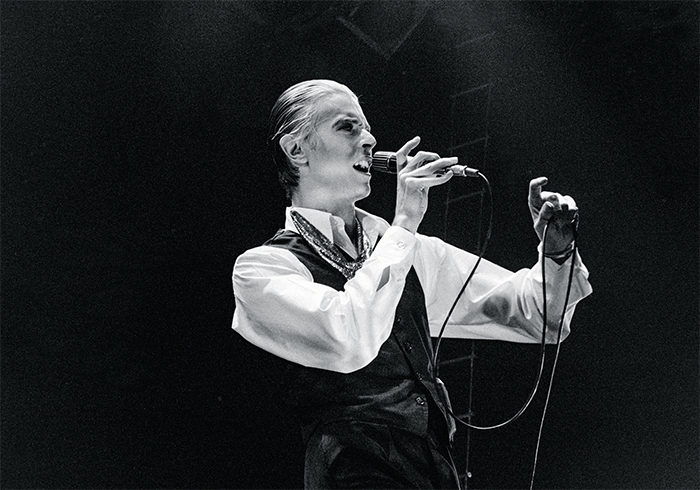 David Bowie performing at Hallenstadion, Zurich, April 18, 1976. Photo: Keystone/Redux.