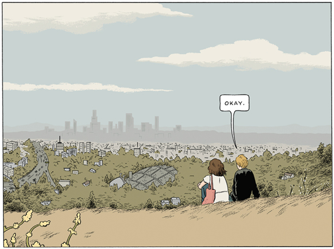 "Page detail from Adrian Tomine's Killing and Dying (Drawn & Quarterly, 2015). ""Amber Sweet."""