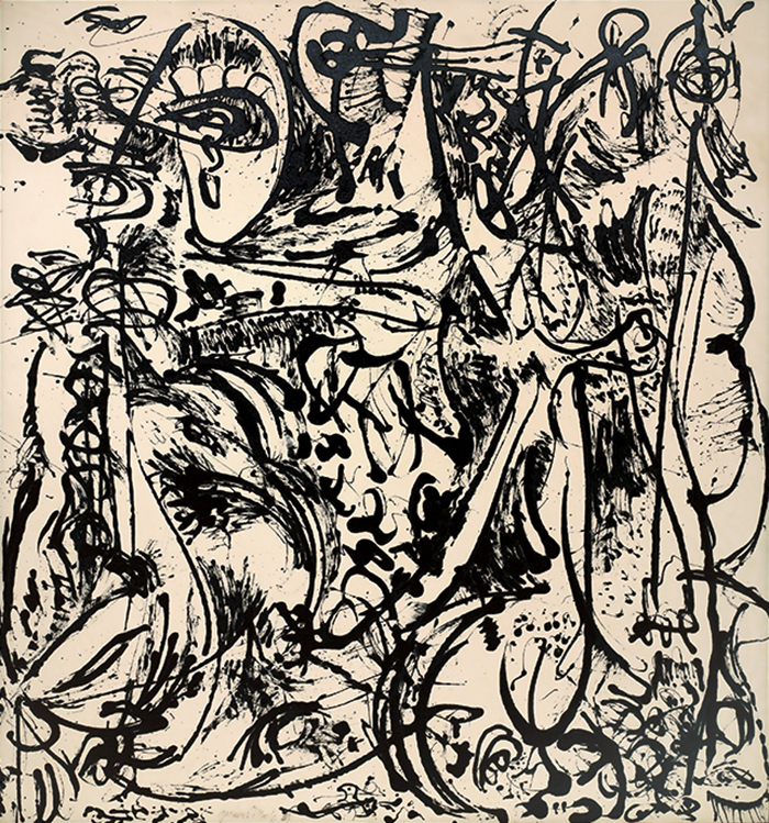 "Jackson Pollock, Echo: Number 25, 1951, enamel on canvas, 91 7/8 × 86"". © The Pollock-Krasner Foundation/Artists Rights Society (ARS), New York."