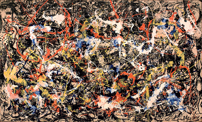 "Jackson Pollock, Convergence: Number 10, 1952, oil on canvas, 7' 9 1/2"" × 13'. © The Pollock-Krasner Foundation/Artists Rights Society (ARS), New York."