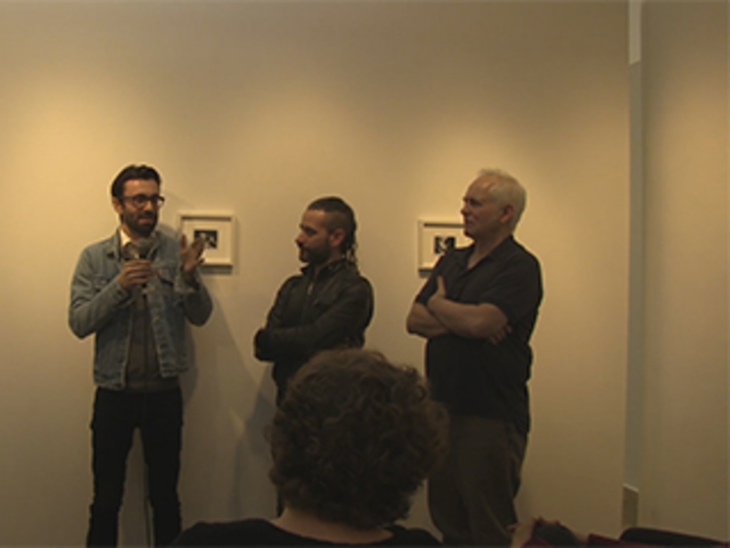 Juan Betancurth and Benjamin Frederickson in Conversation with Allen Frame at Daniel Cooney Fine Art, 2016