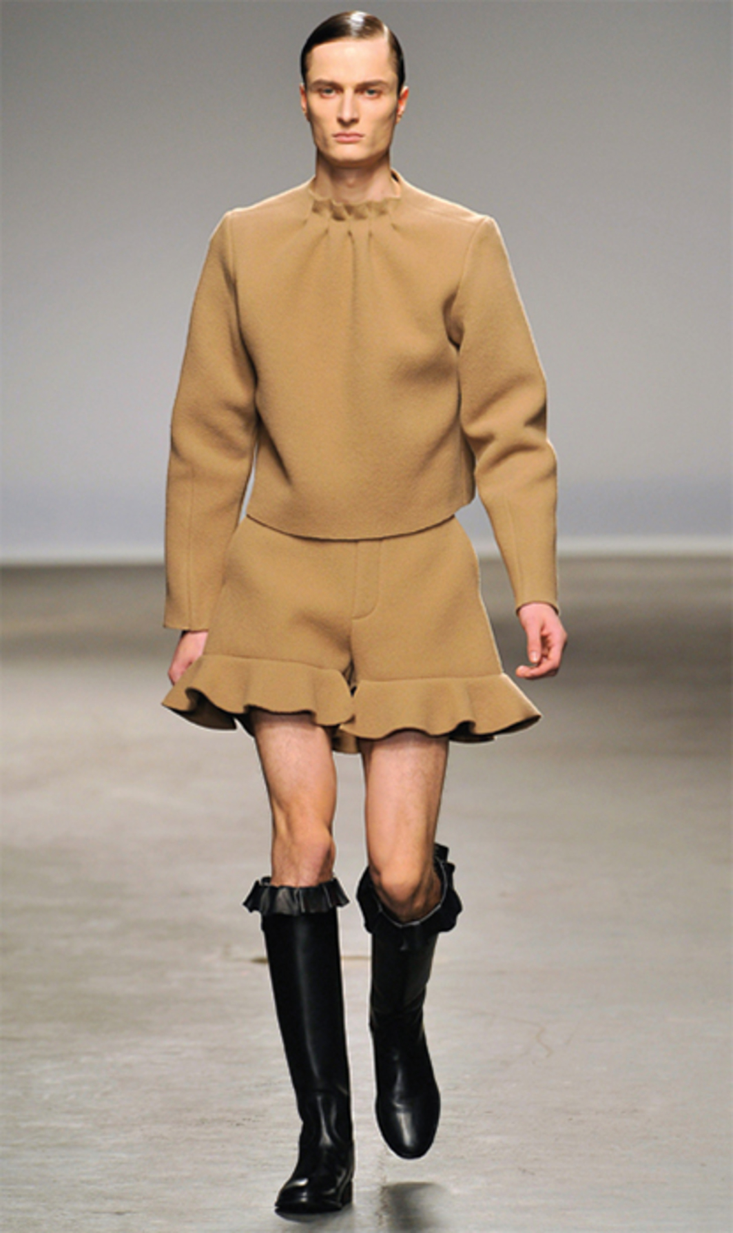 *Look from J. W. Anderson fall/winter 2013–14 men's collection, The Old Sorting Office, London, January 9, 2013.*