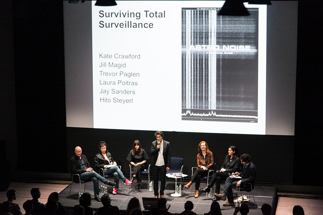 """Surviving Total Surveillance"" at the Whitney Museum of American Art. (Photo: Andrew Kist)"