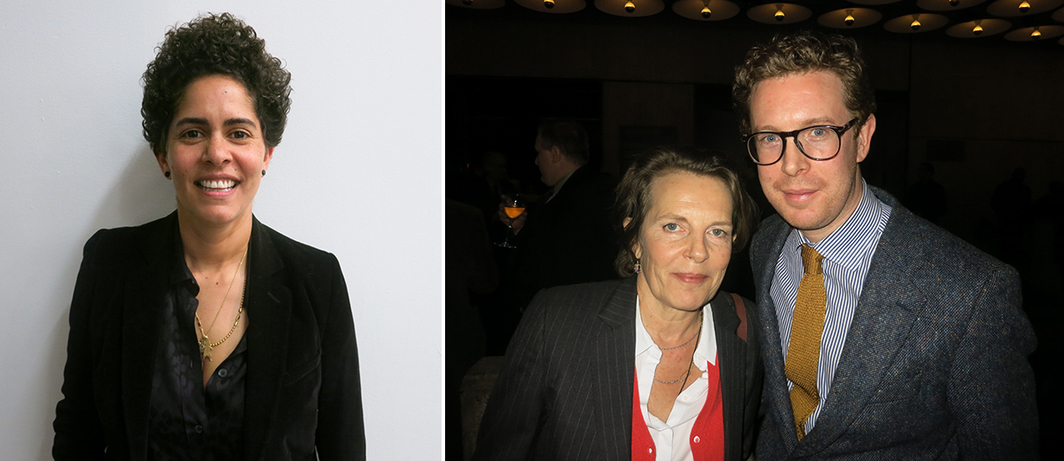 Left: Artist Julie Mehretu. Right: Architect Annabelle Seldorff and National Portrait Gallery (London) director Nicholas Cullinan.