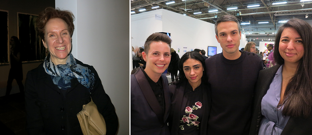 Left: Ann Temkin, MoMA chief curator of painting and sculpture. Right: Dealer Jessica Silverman, artist Hayal Pozanti, Swiss Institute director Simon Castets, and Swiss Institute adjunct curator Alison Coplan.