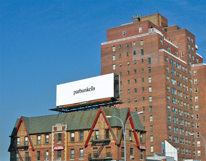 Billboard by Julia Weist, Queens, New York, 2015.
