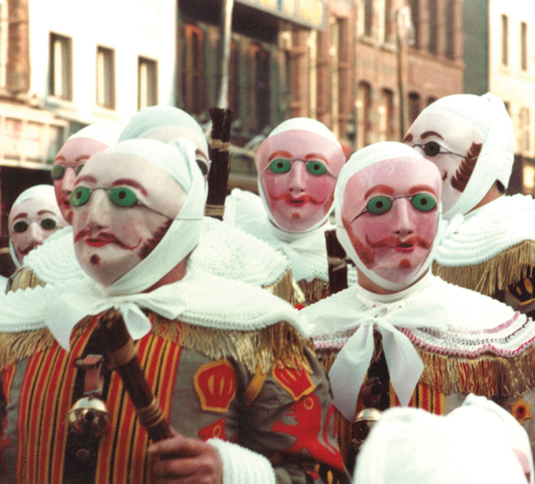 *UNESCO-protected Carnival of Binche, Belgium, 1982.* Photo: Marie-Claire/Wikicommons.