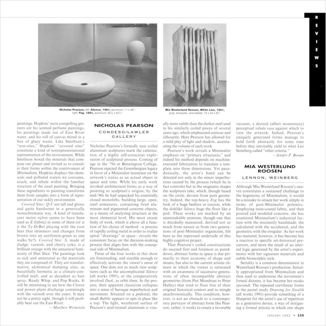 Jenifer P  Borum on Mia Westerlund Roosen - Artforum