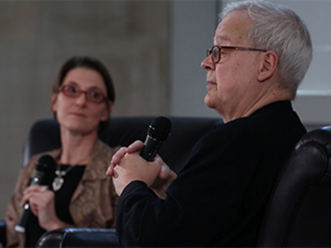 "Tony Conrad at Doug Aitken's ""MIRROR HAPPENING,"" 2013"