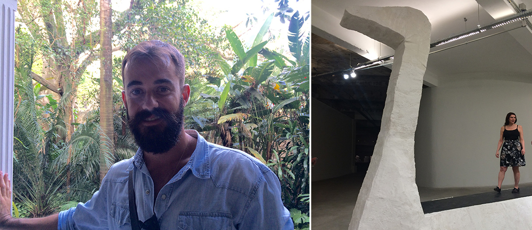 Left: Dealer Jaime Portas Vilaseca. Right: Artist Erika Verzutti. (Photos: Alexandra Pechman)
