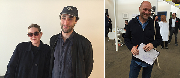 Left: Artists Anna Zacharoff and George Rippon. Right: Artist Kendell Geers.