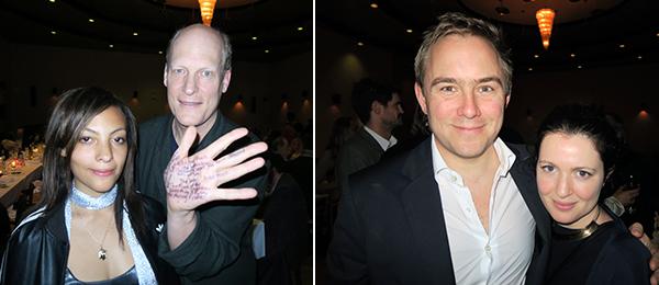 Left Shana Fletcher And Actor Jim Right Artist Justin Beal Dealer Jane Hait