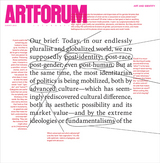 Cover: Barbara Kruger, special project for Artforum, 2016.