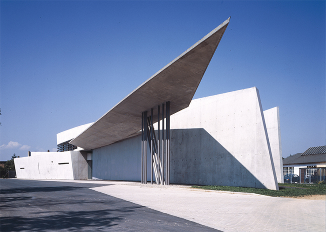 Vitra Fire Station, 1993, Weil am Rhein, Germany. Photo: Christian Richters. © Zaha Hadid Architects.