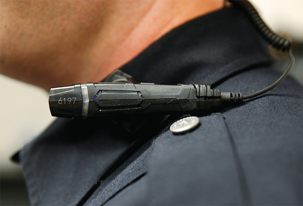 Police body camera, West Valley City, Utah, March 2, 2015. Photo: George Frey/Getty Images.