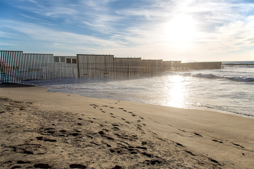 United States–Mexico border, Border Field State Park, Imperial Beach, CA, 2014. Photo: Tony Webster/Flickr.