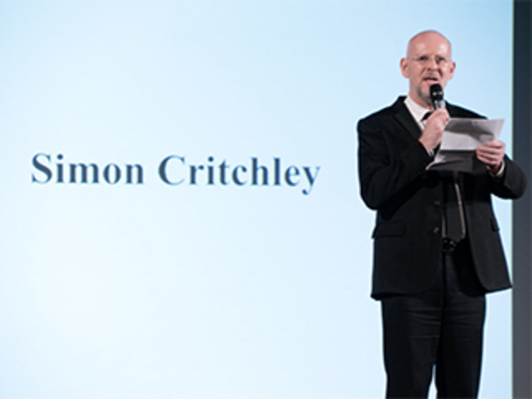 "Simon Critchley at ""It Takes Two"" at the Guggenheim Museum"
