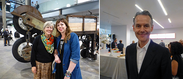 Left: Di Rosa curators Kara Q. Smith and Amy Owen. Right: Broad Museum curator Marc-Olivier Wahler.