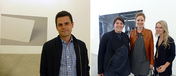 Left: Ratio3's Theo Elliott. Right: Cantor Art Center curators Ali Gass, Jodi Roberts, and Jenny Carty.