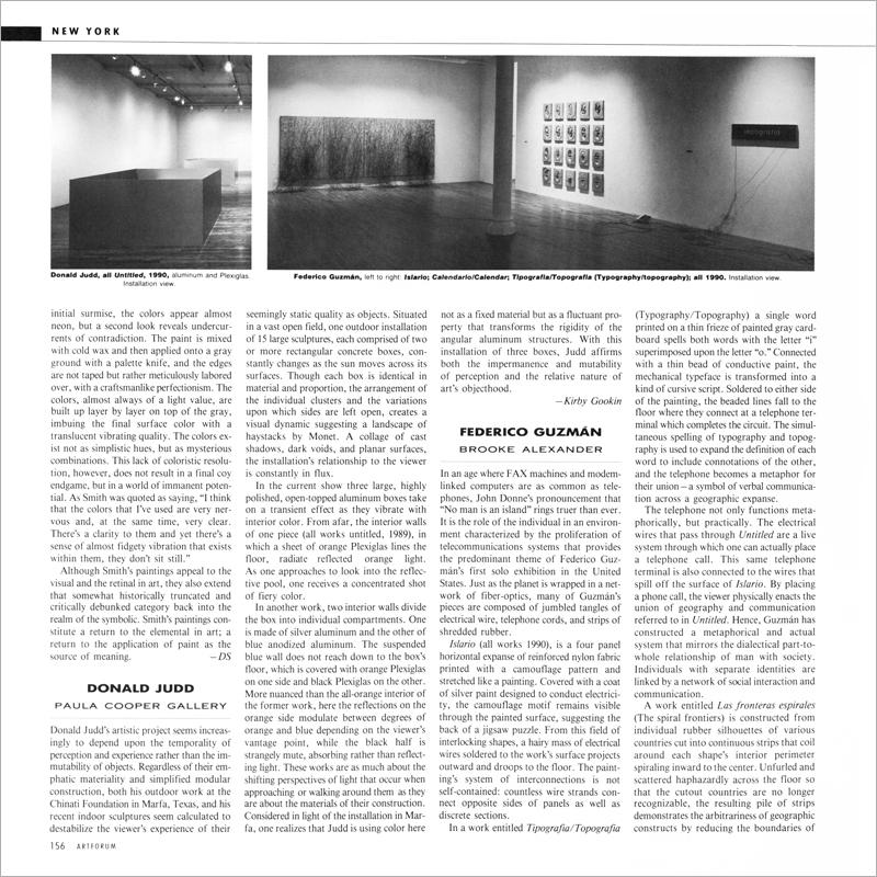 1990 Calendario.Kirby Gookin On Federico Guzman Artforum International