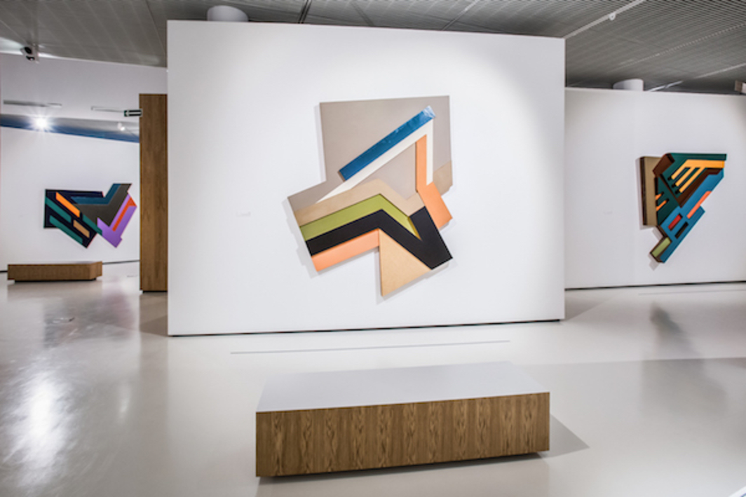 "View of ""Frank Stella and Synagogues of Historic Poland,"" 2016."