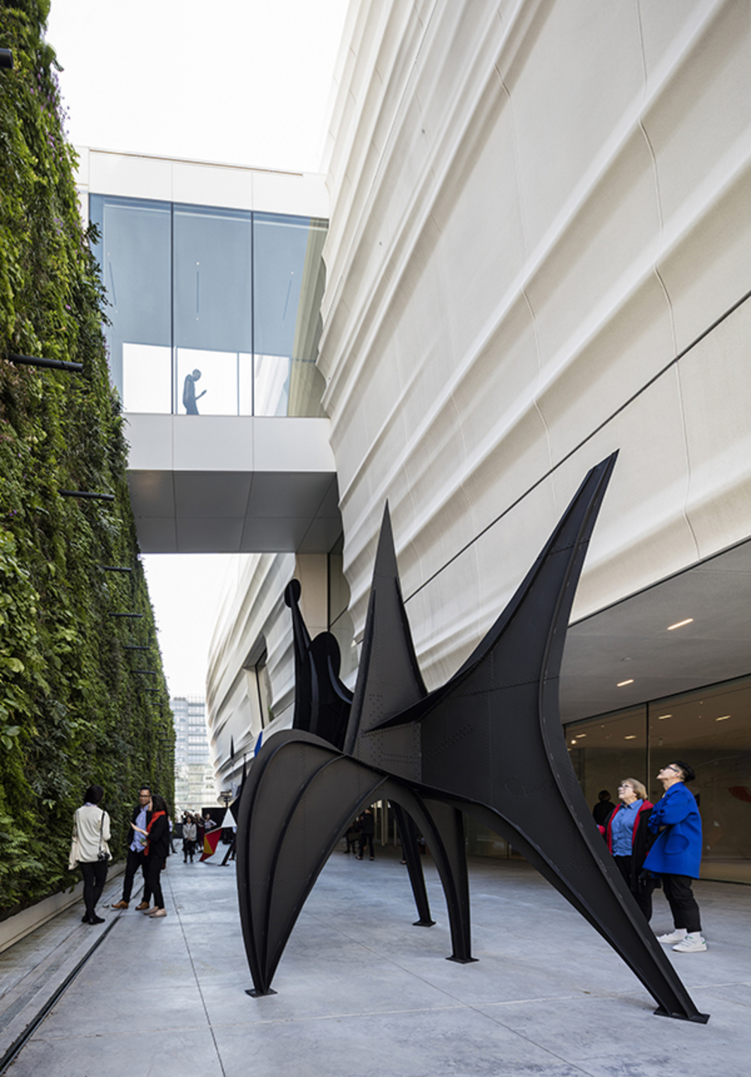 The Pat and Bill Wilson Sculpture Terrace at SF MOMA.  Alexander Calder, Maquette for Trois Disques (Three Disks), 1967. Photo: Henrik Kam.