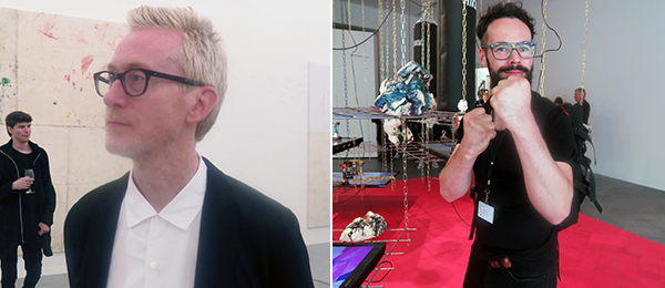 Left: Artist Martin Boyce. Right: Artist Matyáś Chochola.