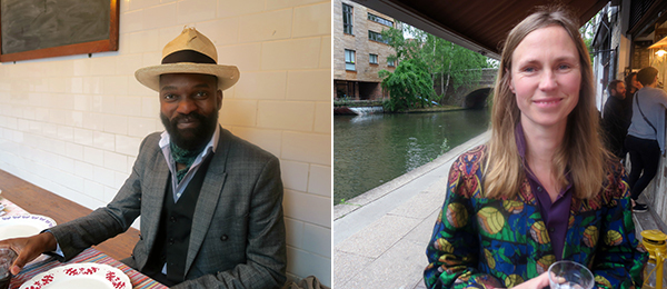 Left: Artist Samson Kambalu. Right: Artist Frances Upritchard.