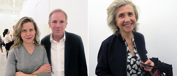 Left: Collectors Silka Rittson-Thomas and Hugo Rittson-Thomas. Right: Collector Griet Dupont.