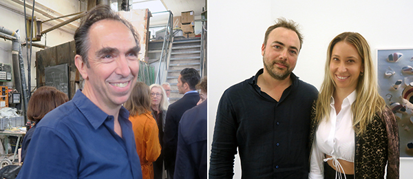 Left: Kunstgiesserei president Felix Lehner. Right: Artist Walead Beshty and art advisor Meredith Darrow.