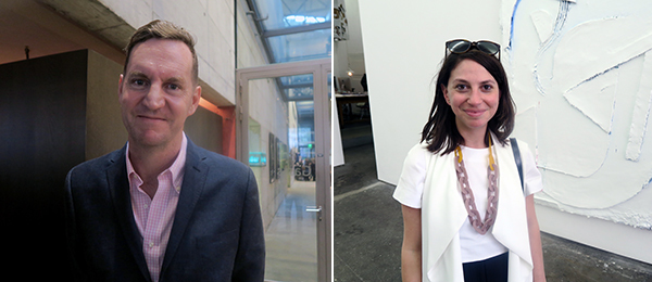 Left: MCA Chicago chief curator Michael Darling. Right: Curatorial advisor Molly Epstein.