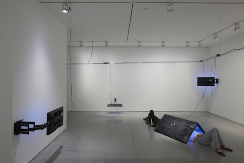"View of ""Eva and Franco Mattes,"" 2016."