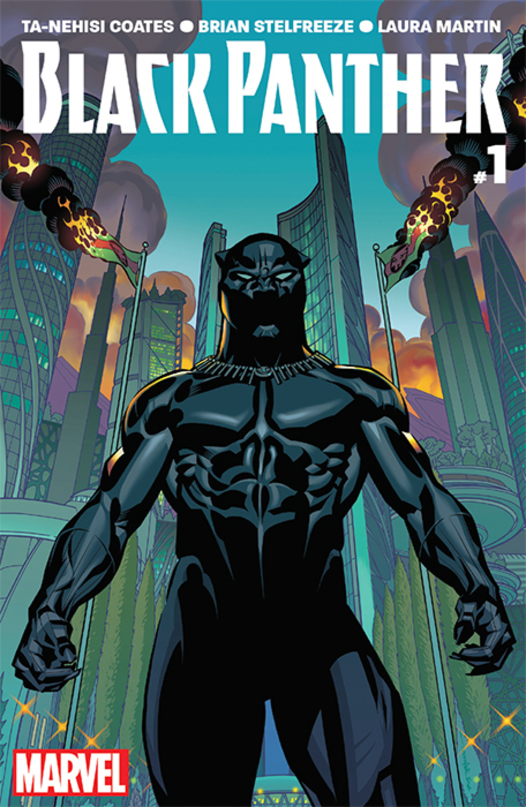 Cover of Ta-Nehisi Coates and Brian Stelfreeze's Black Panther, no. 1 (Marvel, June 2016).