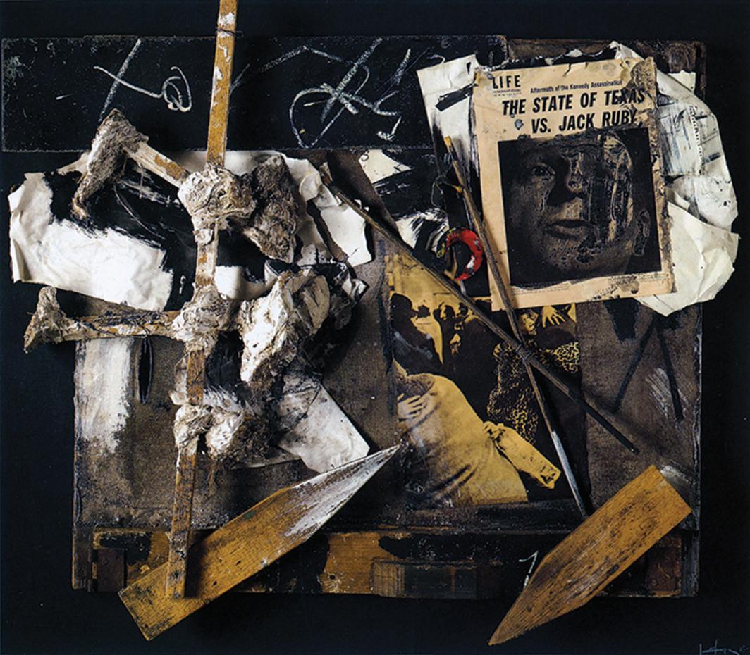"Emilio Vedova, Berlin '64 (detail), 1964, relief, paper, iron, and mixed media on wood, 41 3/8 × 47 5/8 × 7 1/8"". From ""Postwar: Art Between the Pacific and the Atlantic, 1945–1965."""