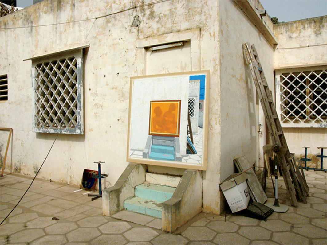 Vincent Michéa's Zone B—Dakar, 2014, outside his studio, Dakar, 2014. Photo: Vincent Michéa.