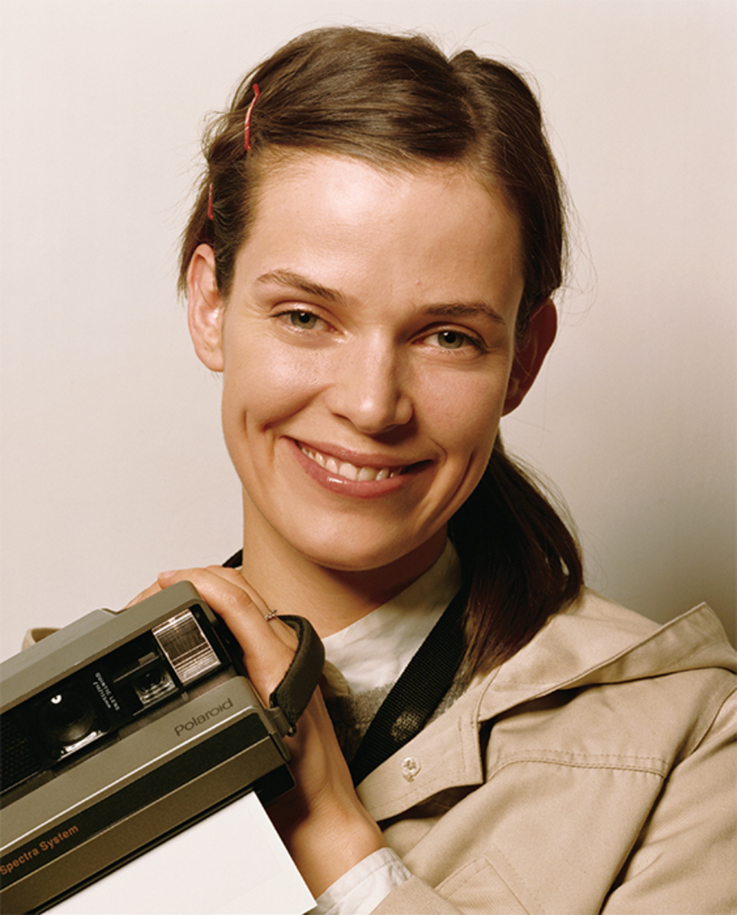 Roe Ethridge, Nancy with Polaroid, 2003–2006, C-print, 40 × 32 1/2""