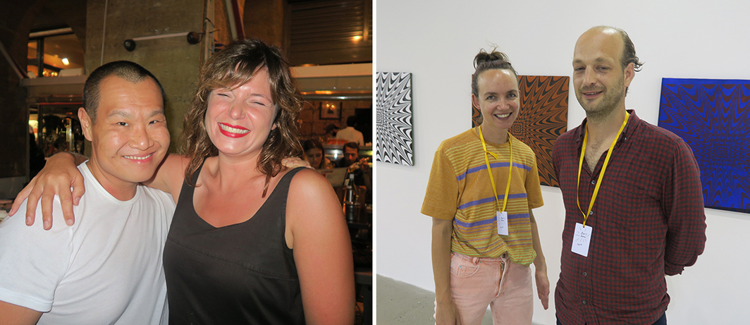 Left: Dealers Stephan Tanbin Sastrawidjaja and Emma Astner. Right: Dealers Inka Meisner and Lars Friedrich.