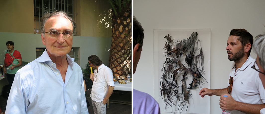 Left: Collector Marc Gensollen. Right: Collector Sébastien Peyret.