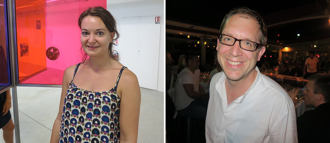 Left: Curator Francesca Zappia. Right: Dealer Andreas Schleicher-Lange.