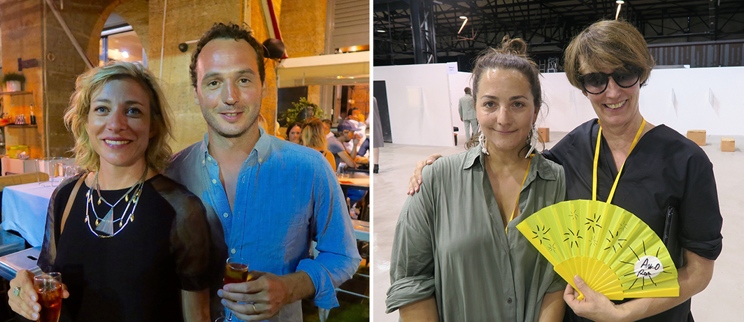 Left: Dealers Alix Dionot-Morani and Axel Dibie. Right: Dealers Marie Luca and Deborah Schamoni.