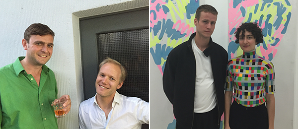 Left: Artist Christoph Westermeier and Syndkt's JL Murtaugh. Right: Artists Alexander Bornschein and Anika Ke.e.