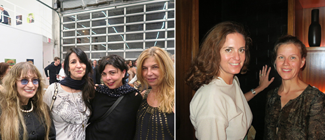 Left: Photographer Marcia Resnick, Sandra Schulman, psychotherapist and author Suzanne Mallouk, and filmmaker Sara Driver. Right: Artist Milena Muzquiz and curator-collector Silka Rittson-Thomas.
