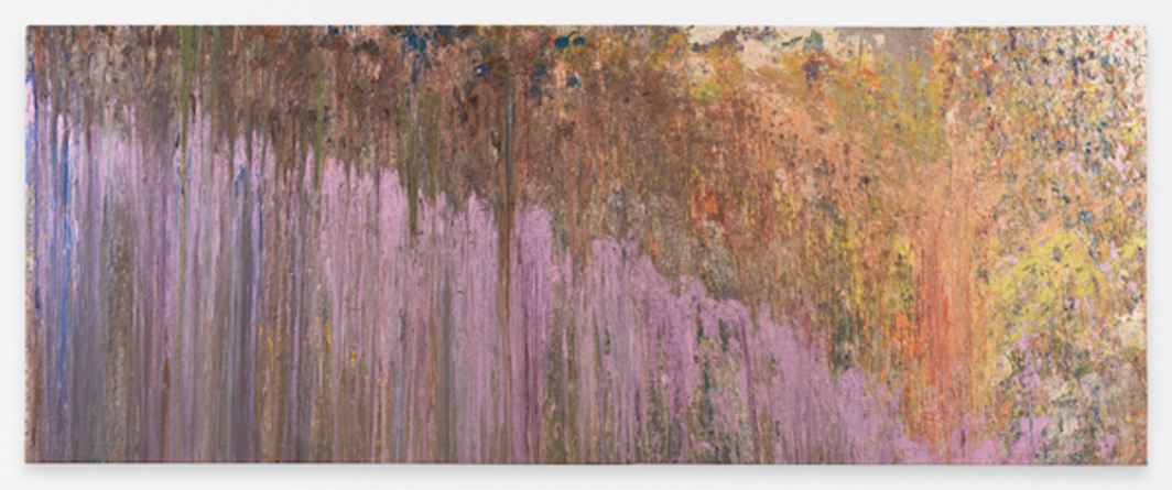 "Larry Poons, Tantrum 2, 1979, acrylic on canvas, 5' 5"" x 13' 5""."