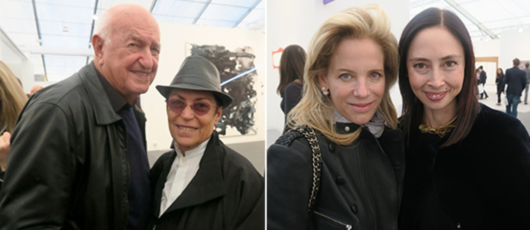 Left: Collectors Don and Mera Rubell. Right: Collector Stephanie Foster and Hirshhorn Museum director Melissa Chiu.