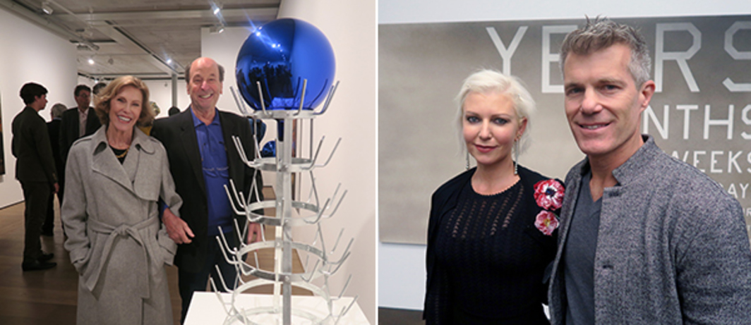 Left: Collectors Thea Westreich and Ethan Wagner. Right: Collectors Christen and Derek Wilson.