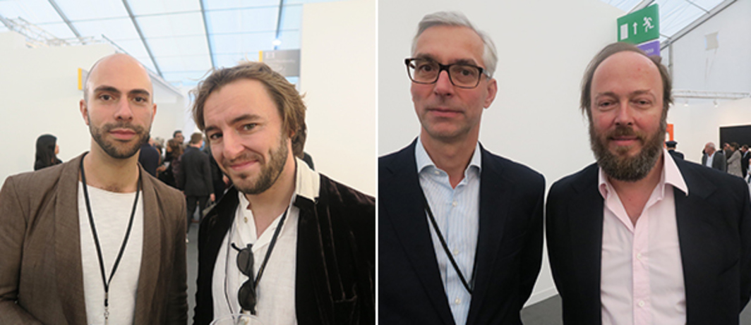 Left: Dealers Felipe Dmab and Matthew Wood. Right: Dealers Thilo Wermke and Alexander Schröder.