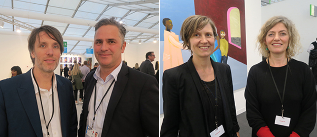 Left: Dealers Michal Ziegler and Dominic Eichler. Right: Dealers Malin Stahl and Lisa Panting.